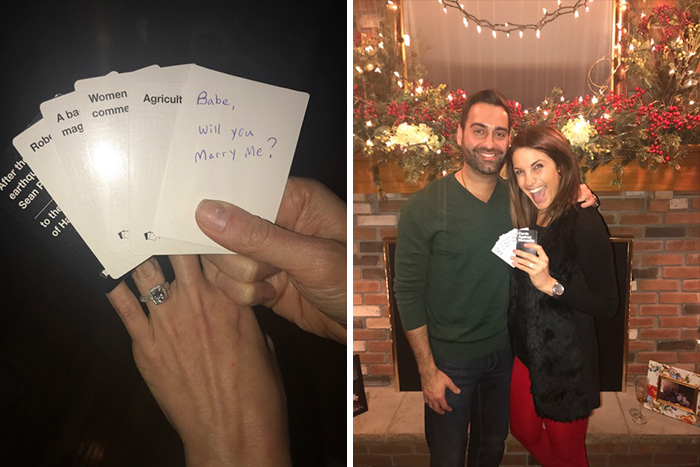 Surprise Marriage Proposal And Pregnancy Announcement During Cards Against Humanity Game
