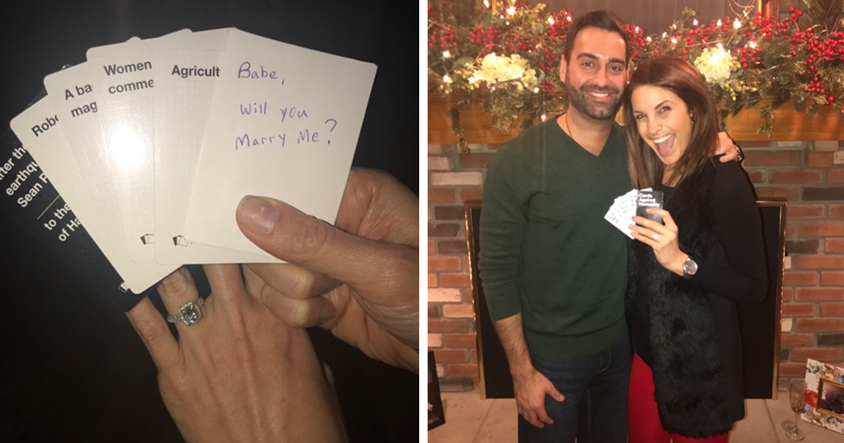 Surprise Marriage Proposal And Pregnancy Announcement During Cards ...