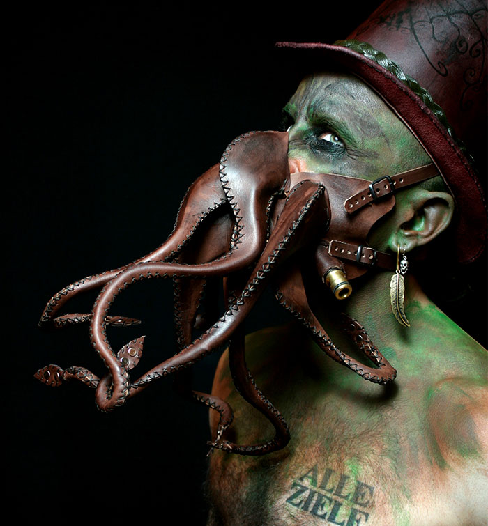 I Sculpt Leather To Create Surreal Characters And Objects