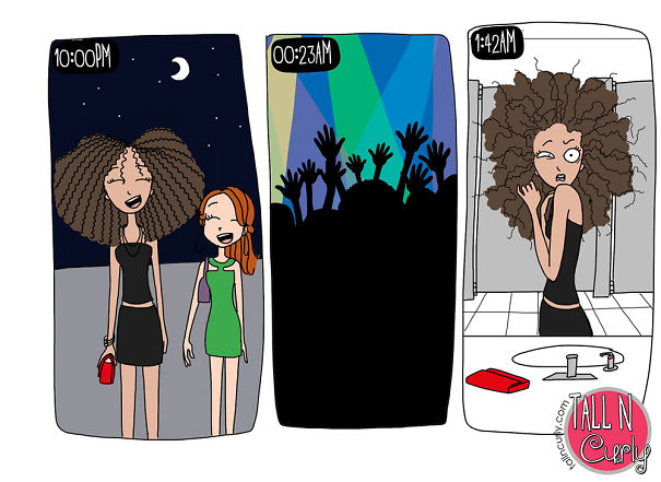 I Draw Comics About Being A Tall N Curly Girl