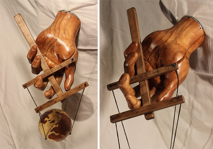 The Hand Of God: My Sculpture Showing He's An Ultimate Puppet Master