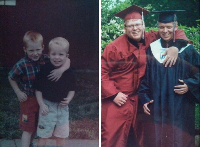 My Friend And I Have Been Best Friends Our Entire Lives. Then And Now: Preschool Graduation And Our High School Graduation