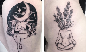 10+ Weirdly Wonderful Tattoos Of Headless Girls By Molly Jean