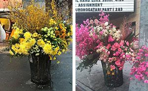 ¿Arte o crimen? Alguien está transformando los cubos de basura de Nueva York en gigantes floreros
