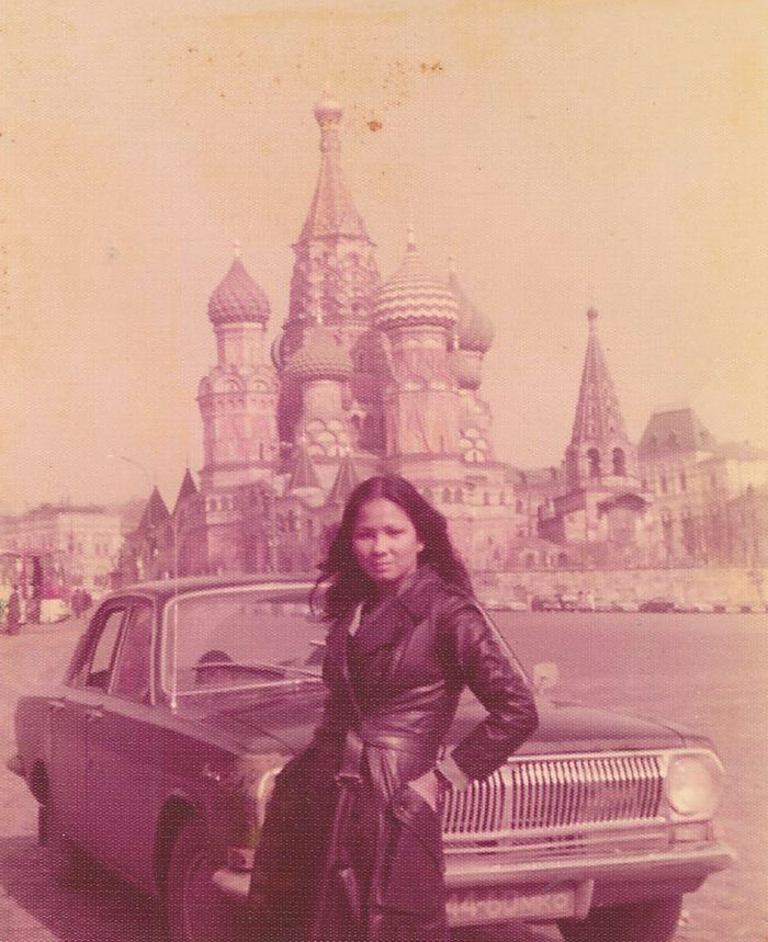 My Mom In Moscow 1975. From All The Stories She's Told Me About Her Travels, I Wouldn't Be Surprised If She Was A Spy
