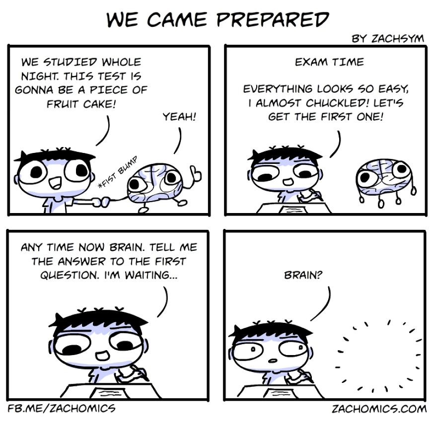 9 Funny Comics About The Challenges Of Exam Season