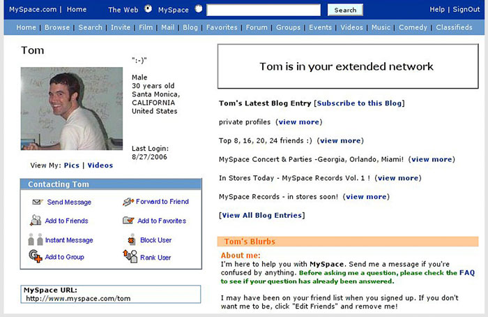 Remember MySpace Founder Tom Who Sold It For $580 Million ...