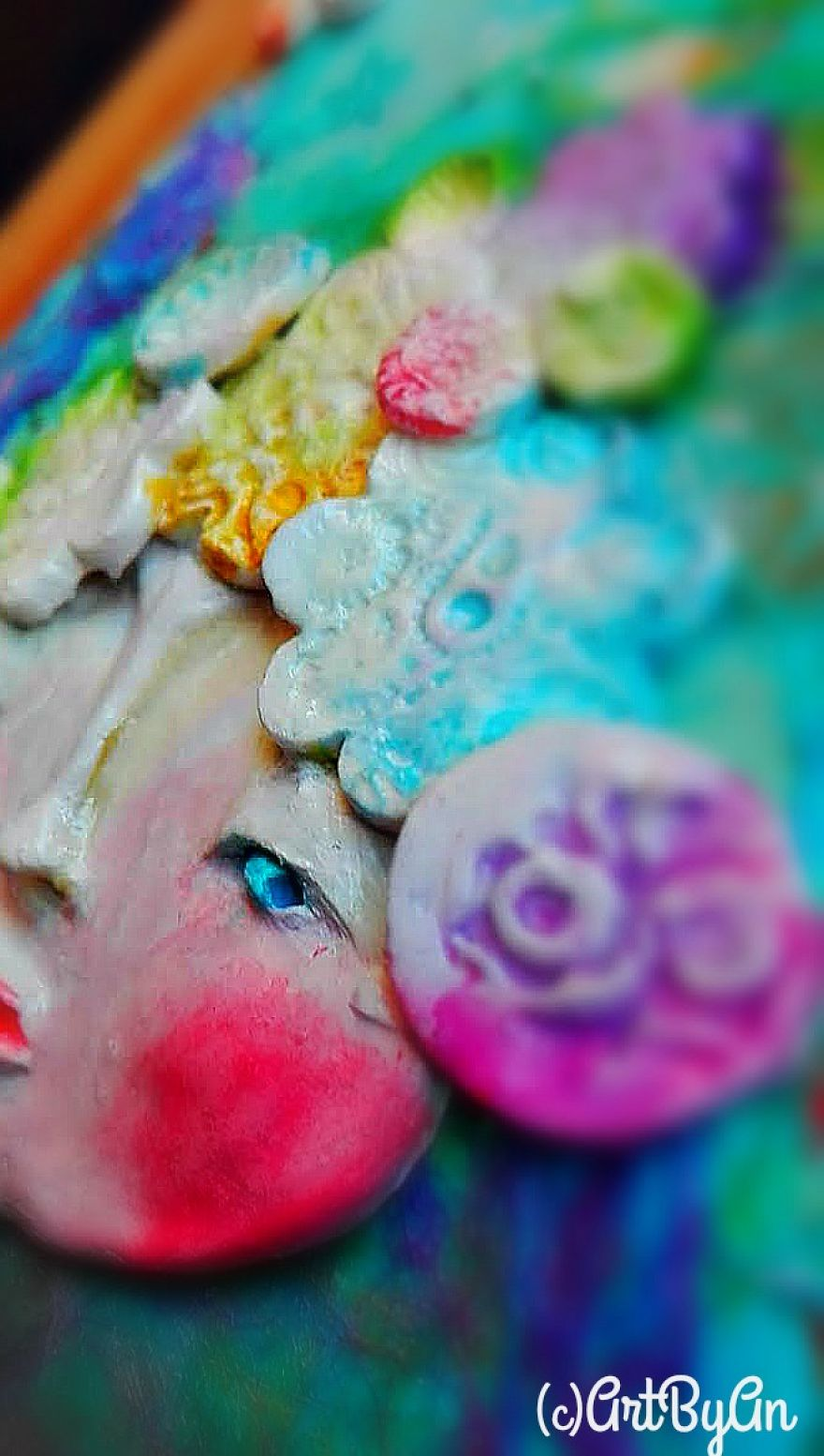 I Create Whimsical Art Out Of Air Dry Clay, Paper, And Water Color ...
