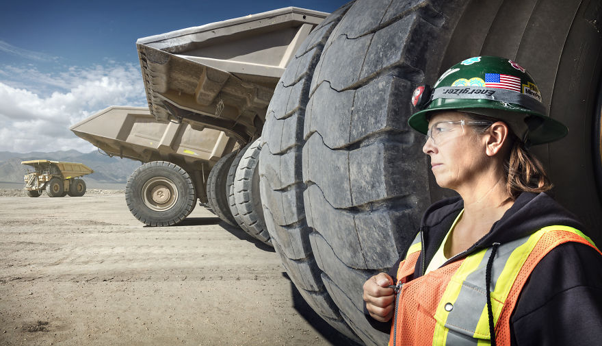 Leeann Johnson, Haul Truck Driver At Round Mountain Gold Mine In Round Mountain, Nevada