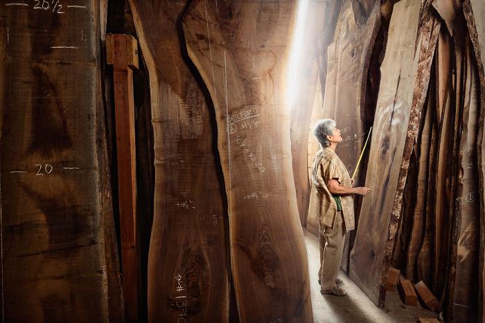 Mira Nakashima, diseñadora y carpintera en Pensilvania