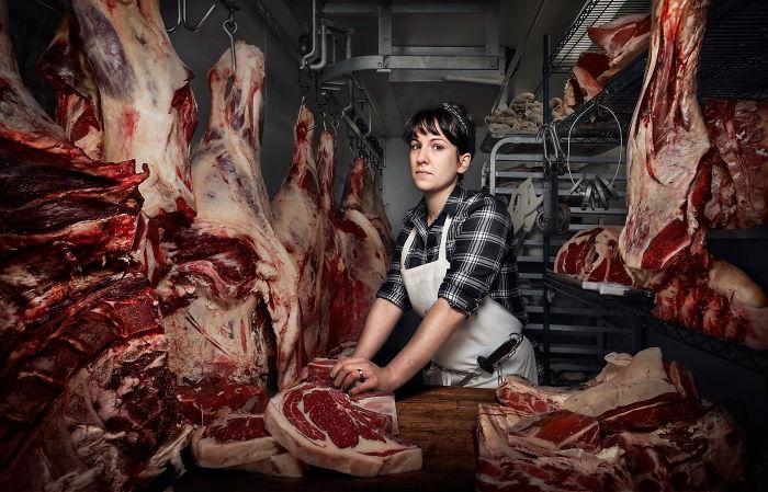Heather Marold Thomason, carnicera y dueña proveedora de carne en Philadelphia
