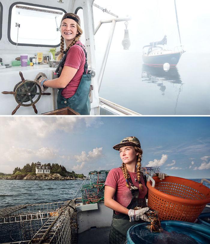 Sadie Samuels, pescadora en Maine
