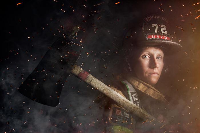 Mindy Gabriel, bombera en Ohio