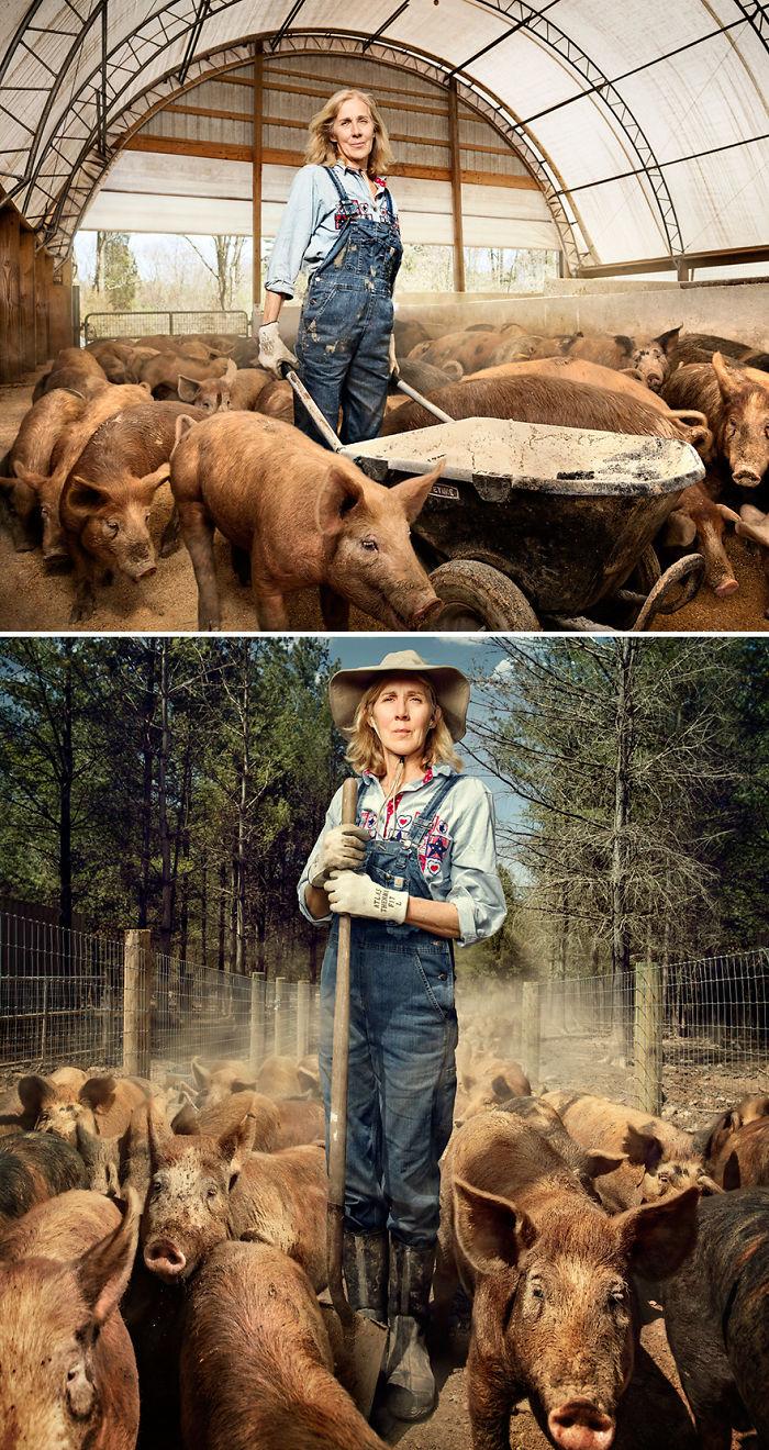 Nancy Poli, granjera de porcinos en Pensilvania