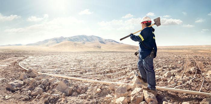 Carol Warn, operaria de pilas de lixiviación en una compañía minera, Nevada