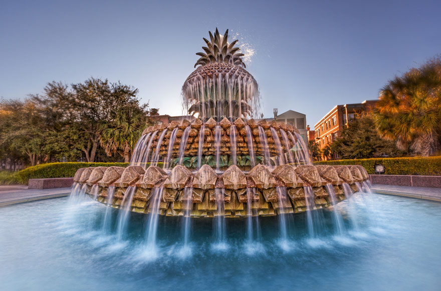 The Pineapple Fountain, Charleston, South Carolina, USA