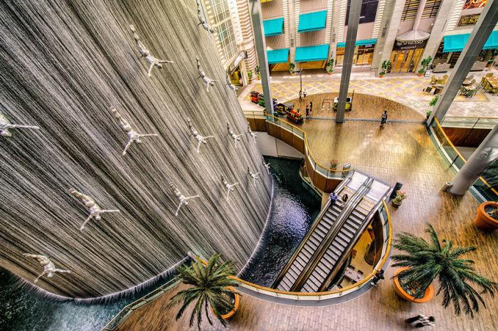 """Fuente de los buceadores"", Dubai, Emiratos Árabes"
