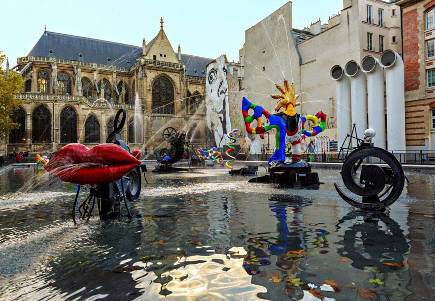 Stravinsky Fountain, Paris, France