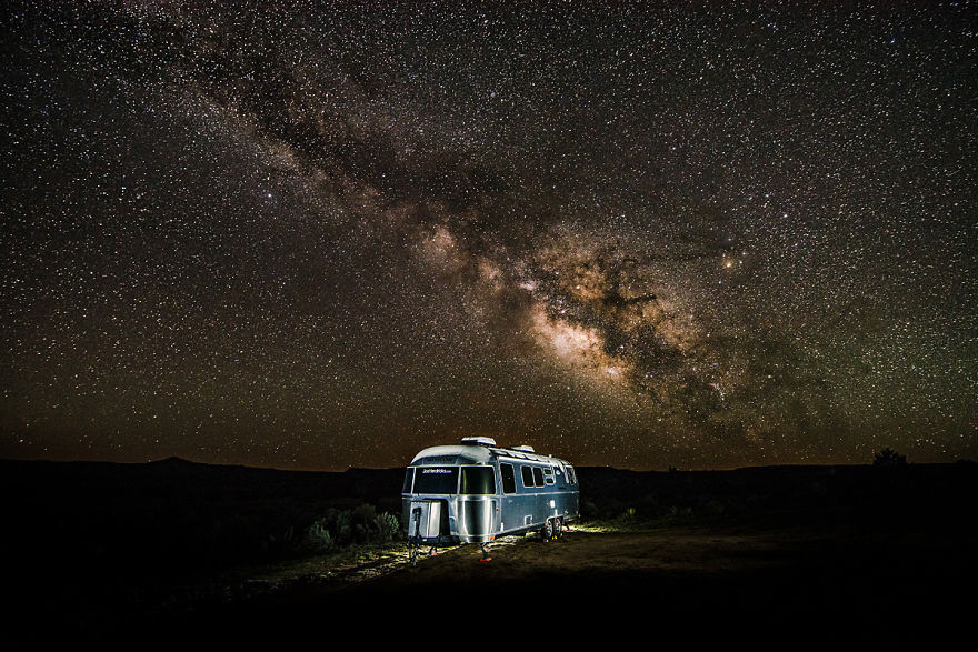Our Airstream Under The Milkyway