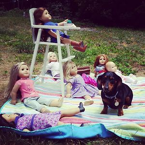 Daughter Was Having A Doll Picnic And Dog Felt Left Out...