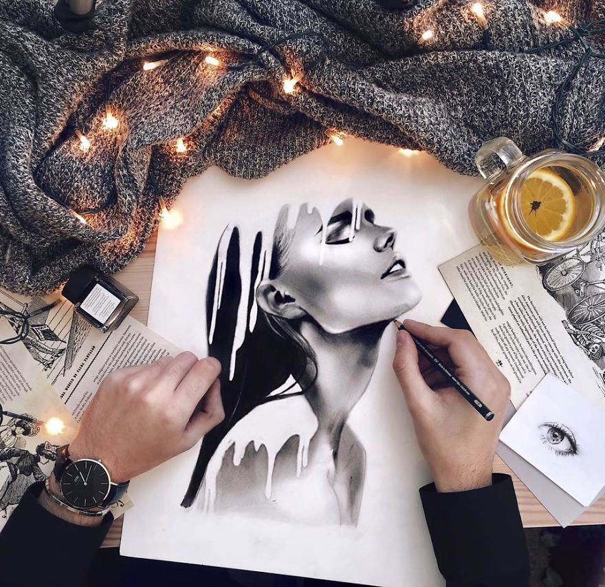 Black And White Drawing