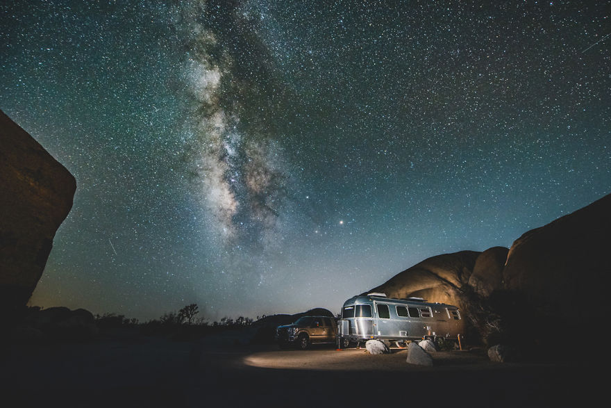 The Milkyway In Joshua Tree National Park