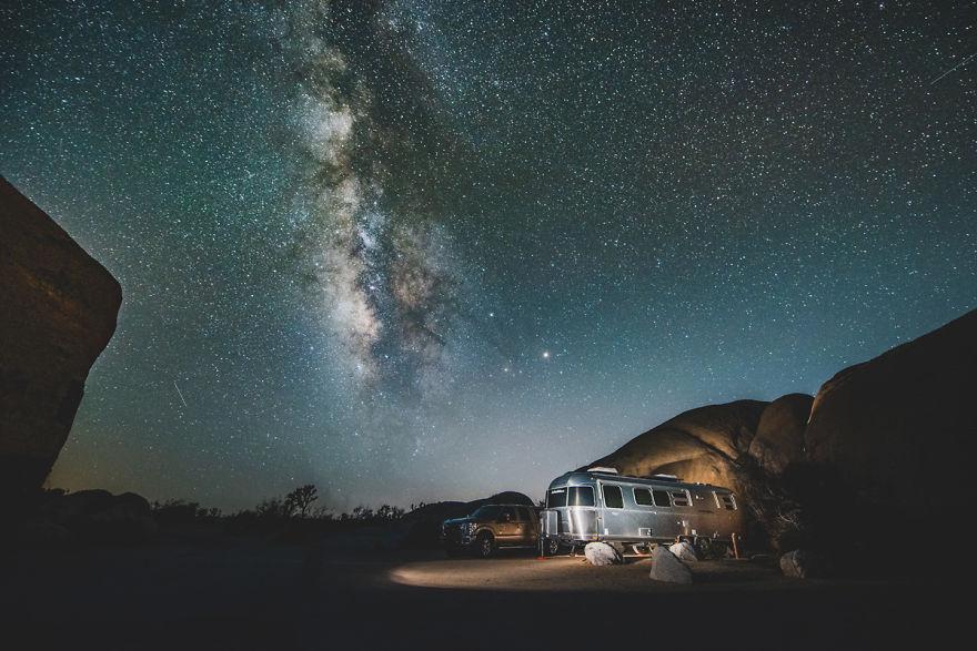 The Milkyway In Joshua Tree National Park