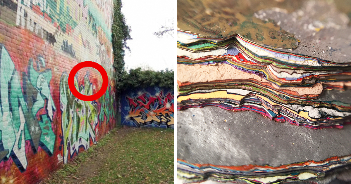 someone peeled off 30 years of graffiti and here s what they found