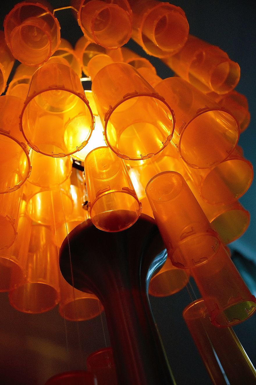 I Revived An Old Lamp Using Nearly 90 Empty Pill Bottles