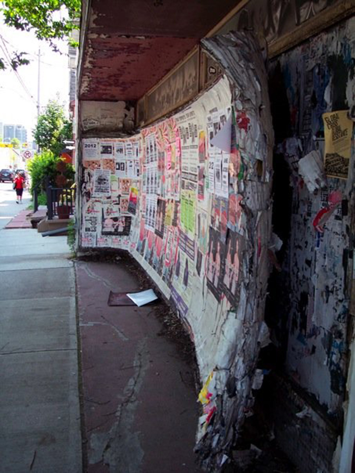 The Thing On Harbord Street, Toronto. So Many Years Of Posters, They've Decided They Don't Need Their Wall Anymore.