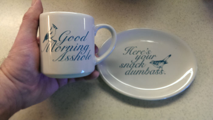 Came Downstairs And My Wife Gives Me These This Morning. Uh... Thanks Honey