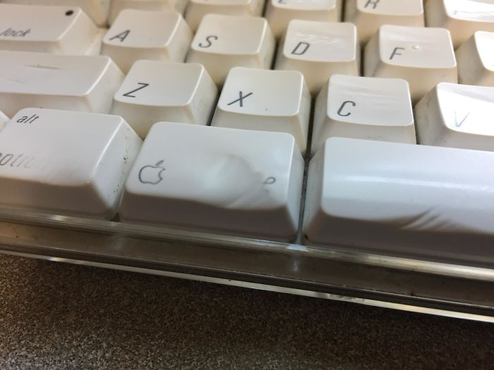 My Coworker's Keyboard Keys Are Worn Down From Use