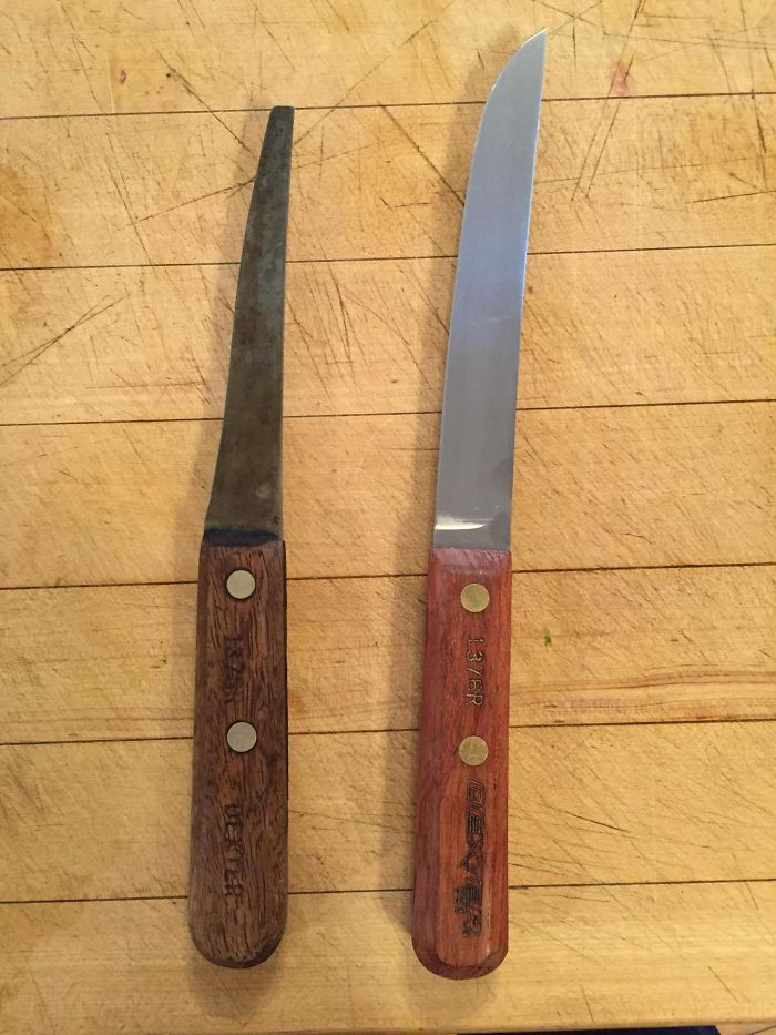 30 Years Of Heavy Cooking Use On My Dad's Favourite Knife