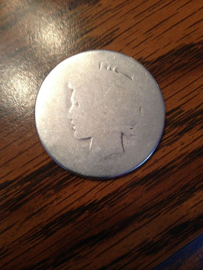 My Grandfather Has Carried This Silver Dollar In His Pocket Since 1952