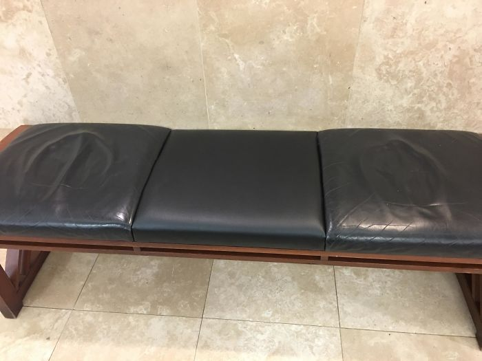 This Seldom-Used Center Seat On This Bench For Three