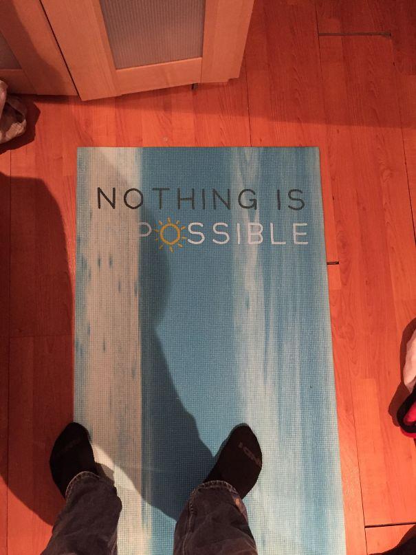 Yoga Mat Is Unintentionally Pessimistic