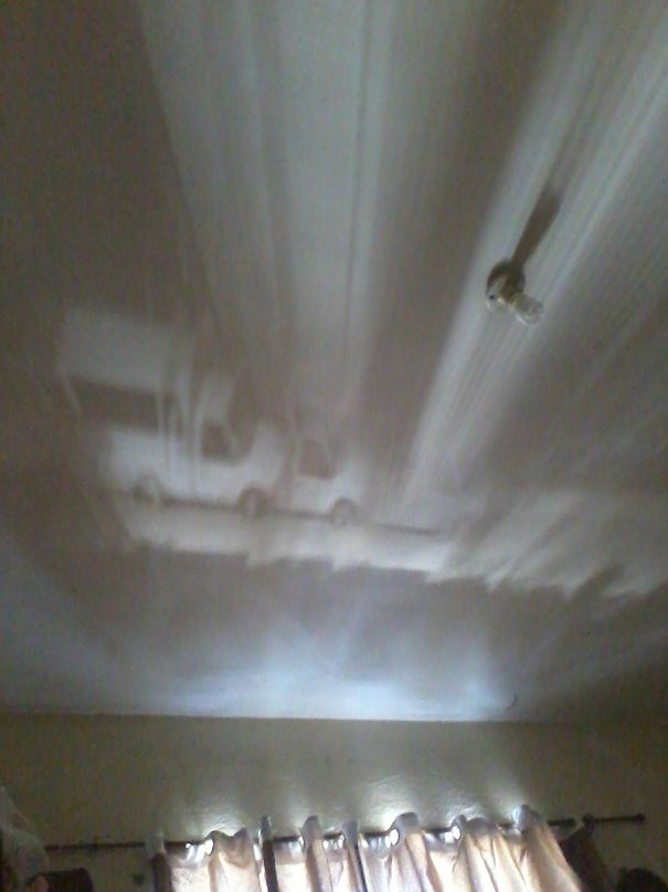 The Curtain In My Room Made A Shadow On The Ceiling That Looked Like A Car