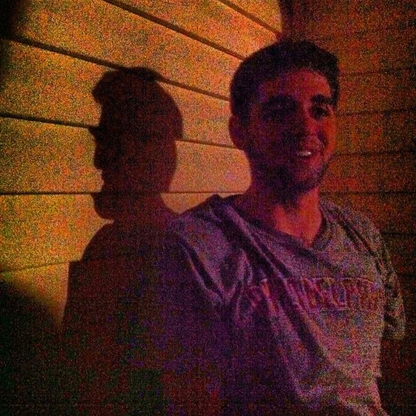 Took A Picture Of My Friend At Night, His Shadow Kind Of Looks Like Abraham Lincoln