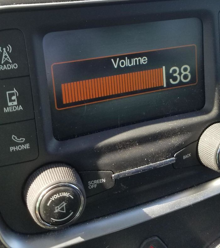 38 Is The Maximum Volume Of My Truck's Radio