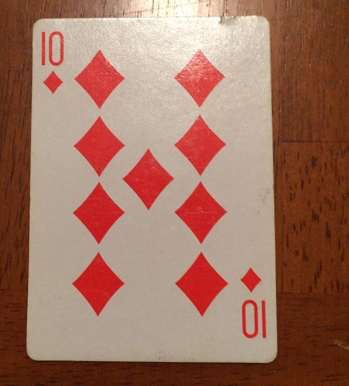 This 10 Of Diamonds Only Has 9 Diamonds