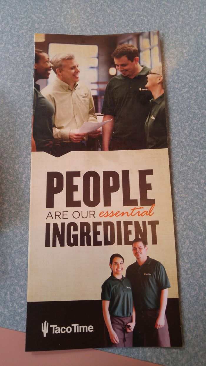 Taco Time's Hiring Pamphlet