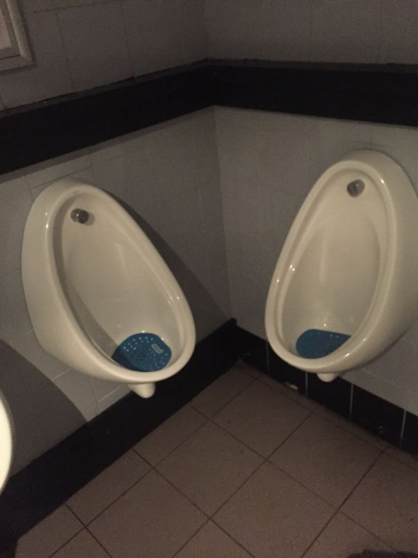Intimate Urinals At The Bar
