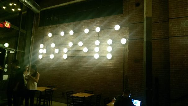 This Bar Put Up A Braille Sign In Lights