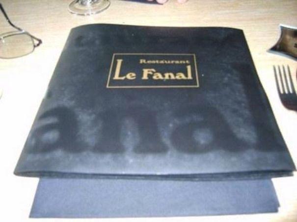 French Restaurant Menu