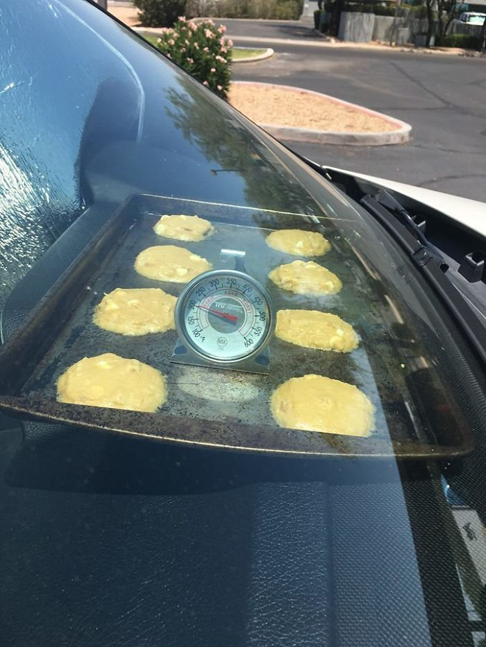 Took Advantage Of The Heat In Scottsdale And Baked Cookies In The Car