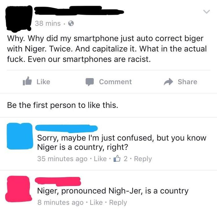 My Friend's Smart Phone Is Racist