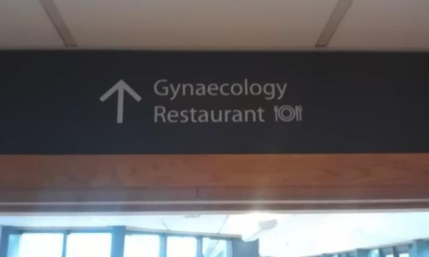 Restaurant Sign Fail At The Ulster Hospital