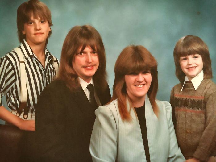 En 1988 toda mi familia tenía el mismo peinado