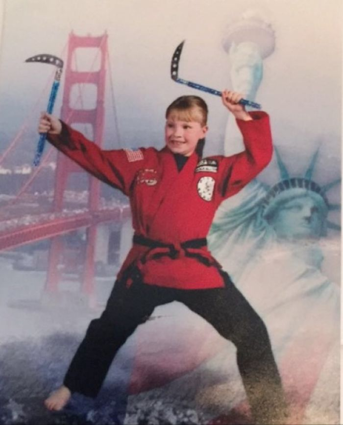 My Karate Days. And Yes, I Picked Out The Background Myself