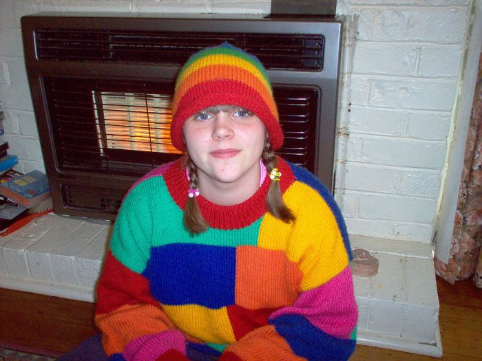 Wore This Hand Knitted Jumper With Matching Beanie A Lot In High School